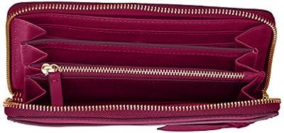 Fossil Caroline Rfid Zip Around Wallet Raspberry Wine Wallet