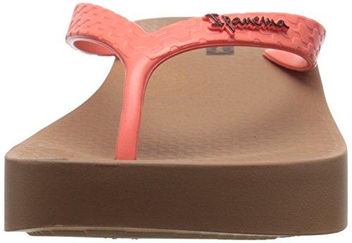Ipanema Tropical de la mujer cuña Flip Flop Brown-Red