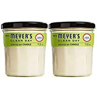 Mrs. Meyer's Clean Day Scented Soy Candle, Large Glass, Lemon Verbena, 7.2 oz, 2 ct by MRS MEYERS