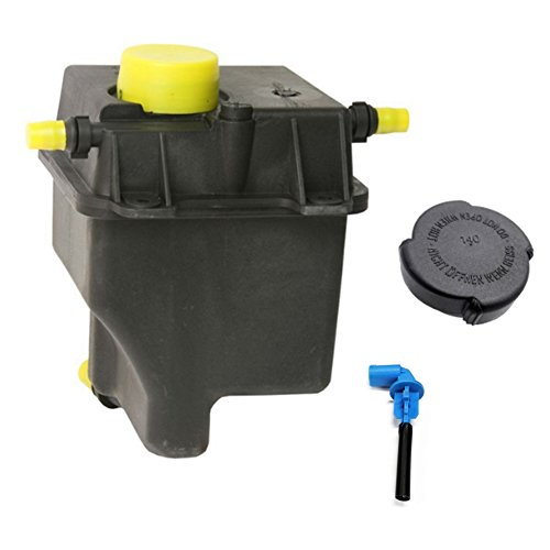 JSD Radiator Overflow Tank Coolant Reservoir Bottle + Sensor + Cap fit 04-06 BMW E53 X5 03-05 Range Rover 4.4L 4.8L