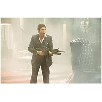 Scarface Al Pacino As Tony Montana Famous Scene Say Hello To My