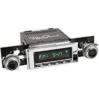 RetroSound HC-117-120-53-73 Hermosa Direct-fit Radio for Classic Vehicles (Chrome Face & Buttons and Chrome Bezel)