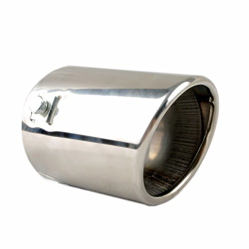 3' Stainless Steel Tips - Car Muffler Tip - Stainless Steel to give Chrome Effect - To Fit 1.5 to 2.5 inch Exhaust Pipe Diameter - Installation Clamps Included by TriTrust