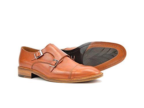 DIS DAnnunzio - Mocassino con Doppia Fibbia in Pelle Decolorata Cuoio La tua scarpa doppia fibbia da uomo in decolorato cuoio, 100% made in Italy e personalizzabile