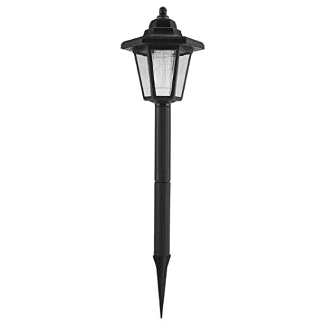 Ancient Chinese Court Landscape Light LED Solar Powered Outdoor Lamb Chinese Garden Sealed Iron Wall Lamp Decorative Garden Solar Post LED Lights for Lawn Hallway Garden Backyard Lighting