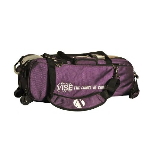 Vise Three Ball Tote Roller Bowling Bag, Purple by Vise