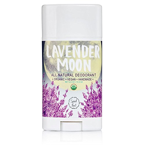 Spirit Nest Lavender Moon Organic, 100% Natural, Aluminum Free, Vegan Deodorant, All Day Protection, 2.5oz