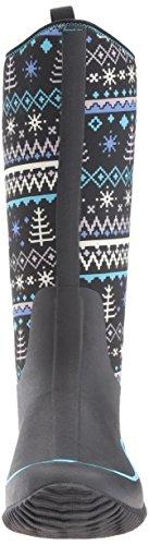 Black Women's Bottines Hale Knit Boots Pluie Winter Noir Muck Femme Print et de Bottes a6Pqg5npg