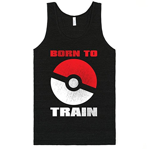 Born To Train | L Athletic Tri Black T-Shirt | Funny Pokemon Shirts