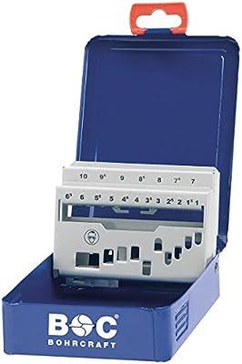 Bohrcraft Caja de metal vacía n.° 00801520019, m 10, 19 espacios ...