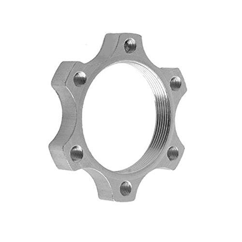 BleuMoo 1Pcs Bicycle Free Wheel Hubs Disc Brake Rotor Disc 6 Screw Thread Flange Adapter 44mm/48mm ()