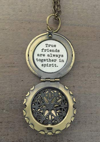 Friendship Locket Necklace, True friends are always together in spirit, friendship jewelry, necklace (Anne Of Green Gables Best Friend)
