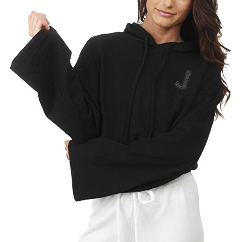 Juicy Couture Womens French Terry Logo Hoodie Black M ()