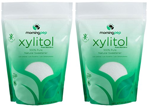 Pack of 2 Morning Pep Pure Birch Xylitol (Keto Diet Friendly) Sweetener 2.5 LB (Not from Corn) Non GMO - Kosher - Gluten Free - Product of USA. Total 5 Lbs (80 OZ) by Morning Pep (Image #10)