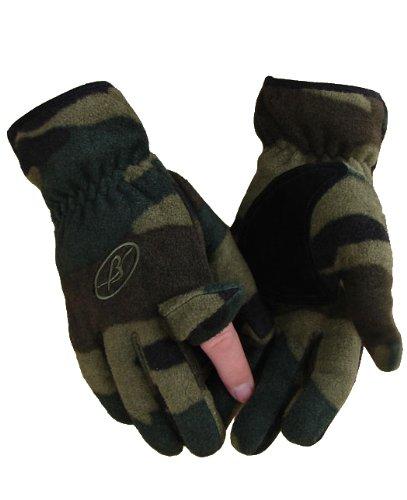 Benisport Guantes de forro polar dedo cremallera talla m color camuflaje