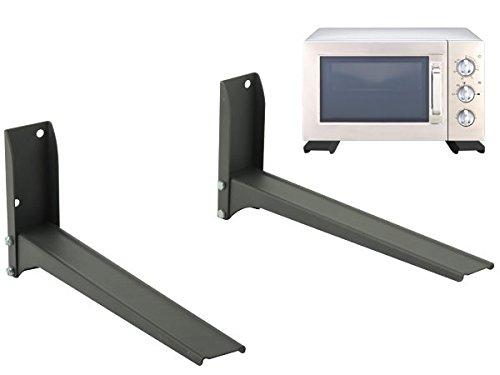 🥇 Soporte universal de pared microondas Cocina Altavoces Cajas BluRay Reproductor de DVD negro Modelo: H76B