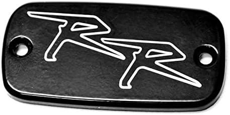 Krator Motorcycle Fluid Black Reservoir Cap Logo Engraved For 2003-2006 Honda CBR 600 F2//F3//F4//F4i