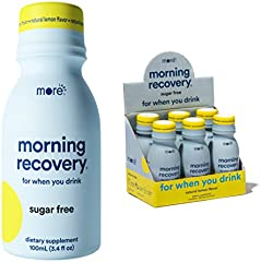 Morning Recovery by More Labs, Patent-Pending Liver Detox Drink. Caffeine-Free, Non-GMO, No Artificial Flavoring
