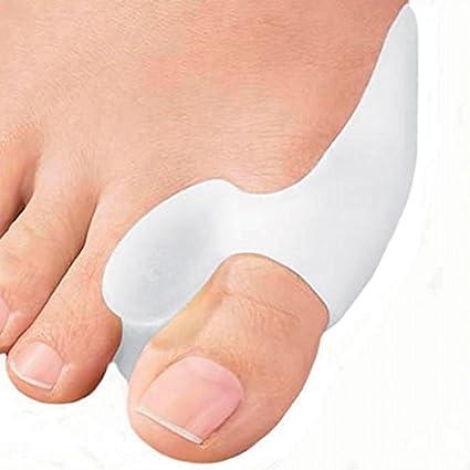 1 par Juanete Protector Gel Cojín Pad Alivio del Dolor Hallux Valgus Toe separador de silicona