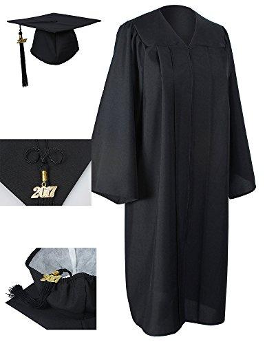 GraduationForYou Matte Graduation Gown Cap Tassel 2017 (Graduation Gown And Cap)
