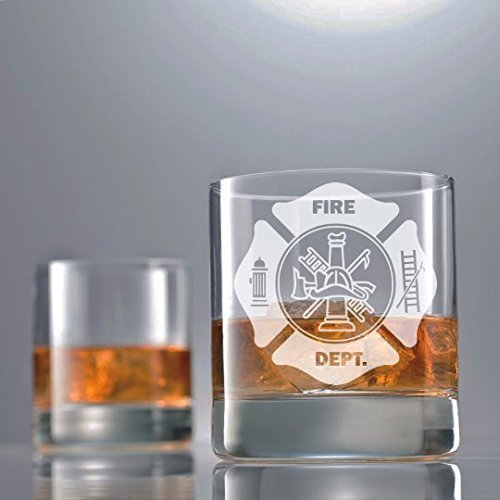 Fireman, Firefighter, Firefighter gifts, fireman retirement, Firefighter retirement, Fireman graduation, Fireman gift, Off Duty, Paramedic, fire fighter wife, Whiskey glass,