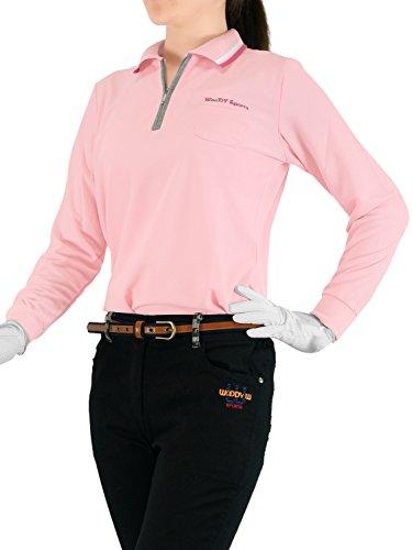 (ウッディワールド) WOODY WORLD レディース ゴルフ 吸汗速乾 鹿の子 ポロシャツ pc-605