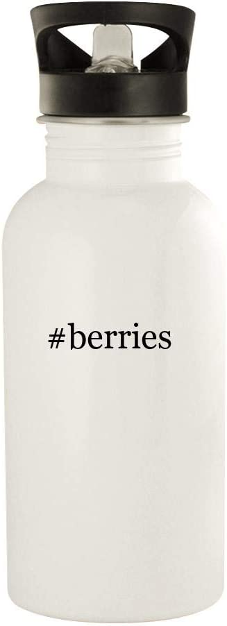 #berries - 20oz Stainless Steel Water Bottle, White 41z89wKaaqL