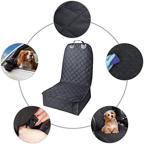 TYC Cubierto Asiento Perro, Funda para Mascotas para Asiento de Coche, Asiento Impermeable Anti-Deslizamiento para Mascotas Perro Gato(Negro) 8