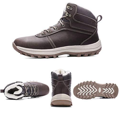 Foncé De Brun Outdoor Trekking Neige Bottes Fourrure Chaussures Homme Imperméable Sneakers Randonnée Hiver Boots q7tOBHBc