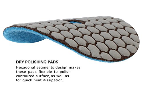 CHANGE MOORE Dry Diamond Polishing Pads 4'' for Marble Granite Travertine Terrazzo Concrete Stones, 2 pack-Grit 400 by CHANGE MOORE (Image #3)