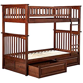 Amazon Com Columbia Bunk Bed Twin Over Twin White Kitchen Dining
