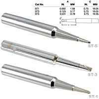 Weller ST1, ST3, TS5 Single Flat & Screwdriver Tips, Tip Nozzle tip for WP25, WP30 and WP35 irons and WLC100 station, Soldering, Desoldering, Rework Tips, Nozzles, Tinned with Lead Free alloy