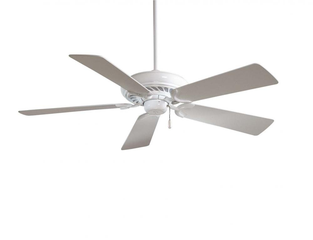 Minka-Aire F568-WH Downrod Mount, 5 White Blades Ceiling fan, White