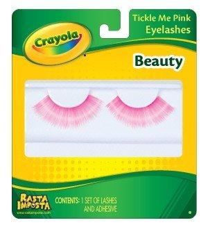 Rasta Imposta Crayola Tickle Me Pink Beauty Eyelashes Costume Accessory One -