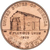 PRESALE 2009 Lincoln Cent Penny Coin Log Cabin Full Roll - 50 Uncirculated Coins - PRESALE 2009 Lincoln Penny Roll