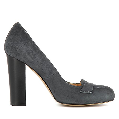Daim Shoes Gris Femme Cristina Foncé Escarpins Evita wORT1IqT