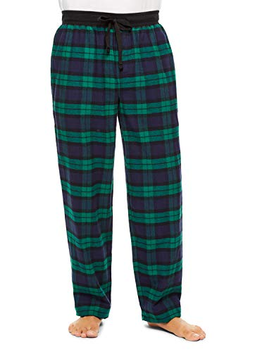 Haggar Men's Plaid Sleep Pants | Cotton Flannel PJ Bottoms XL