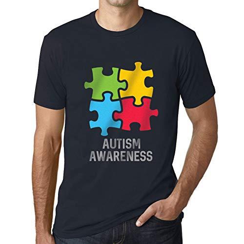 Ultrabasic Men's Graphic T-Shirt Autism Awareness Navy ()