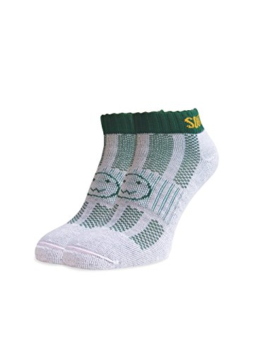 WackySox South Africa Green Trainer Sports Socks Young Adult Shoe Size 2-6 by Wackysox