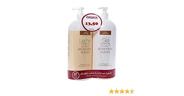 BACTINEL Duplo Leche Almendras 750ml + Gel de Baño 750 ml