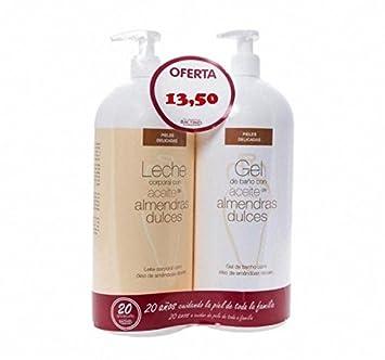 BACTINEL Duplo Leche Almendras 750ml + Gel de Baño 750 ml: Amazon.es: Salud y cuidado personal