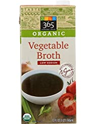 365 Everyday Value, Organic Low Sodium Vegetable Broth, 32 fl oz