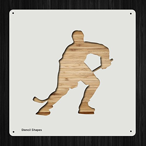 (Hockey Player Plastic Mylar Stencil for Painting, Walls and Crafts, Item 1321898)
