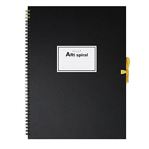 "Maruman Art Spiral Sketch Book 13x9.5"" - Black"