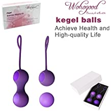 Ben Wa Ball Kegel Exercise Weights Kit(5-Piece Set) - Doctor Recommended for Bladder Control Device Strengthen & Tighten Pelvic Floor - Kegel Ball Exercise Kit for Women:Beginners and Advanced