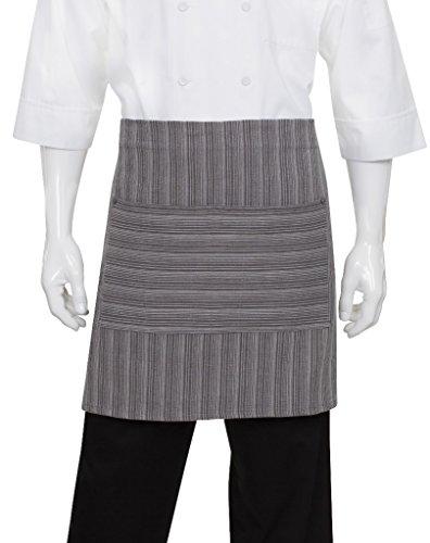 Chef Works Unisex Brooklyn Half Bistro Apron, Dark Gray, One Size