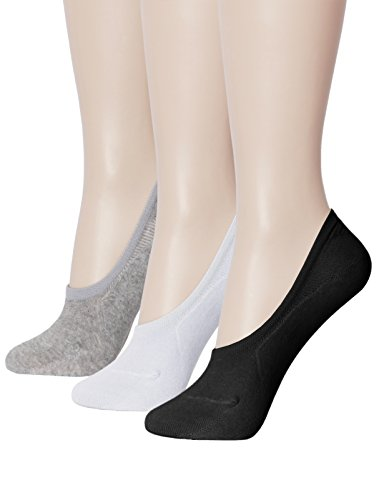 OSABASA Womens 1 to 10 Pack Casual No-show Socks Flat Boat Line with Non-Slip Grip