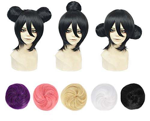YOGFIT Colorful Hair Bun Extensions Chignon Donut Bun Wig Hairpiece 1 Piece – Purple