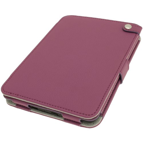 iGadgitz Purple PU 'Bi-View' Leather Case Cover for Amazon Kindle Paperwhite 2015 2014 2013 2012 With Sleep/Wake Function & Integrated Hand Strap by igadgitz (Image #2)