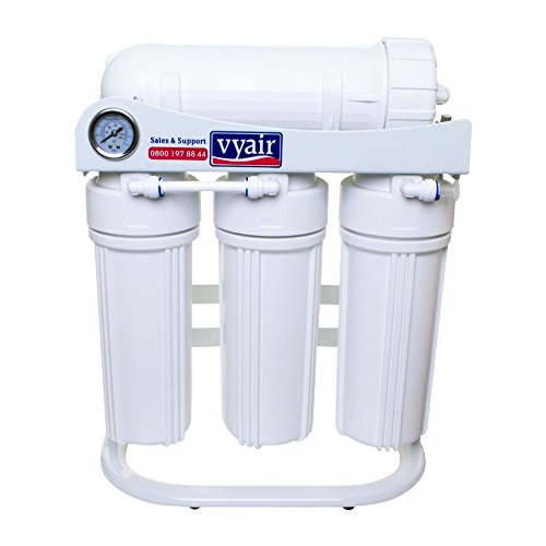 VYAIR 300 Gallons-Per-Day RO-300 Reverse Osmosis 4-Stage Purification System (with Pressure Gauge, Ultra-Low-Pressure 3-Layer Configuration Membrane, 3/4